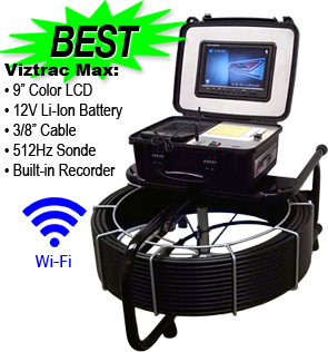 Viztrac Max Sewer Cameras (8-hour, 12V battery)